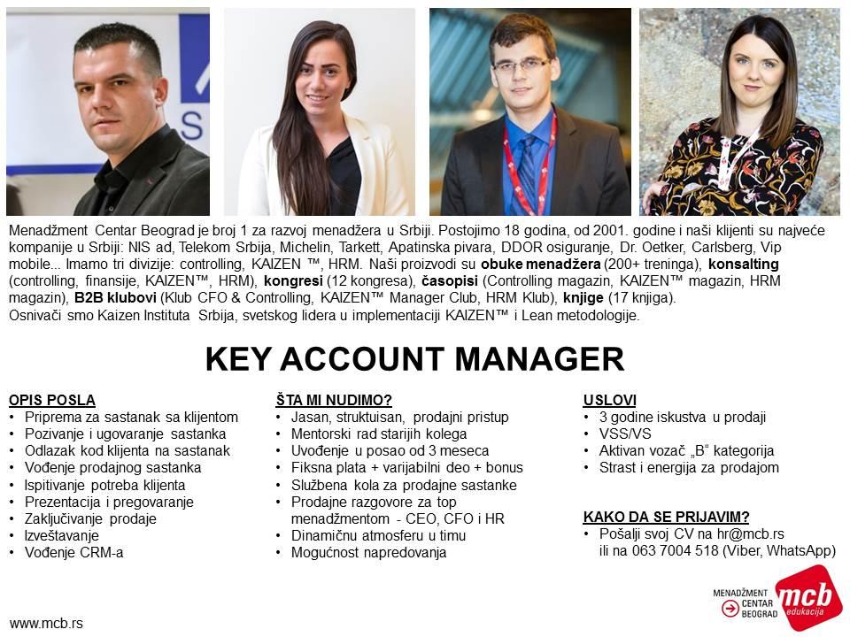 2019-07-03 Oglas za posao Key Account Manager