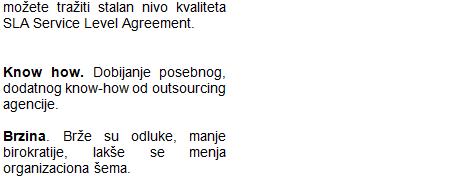 Outsourcing (spoljne usluge) 2.